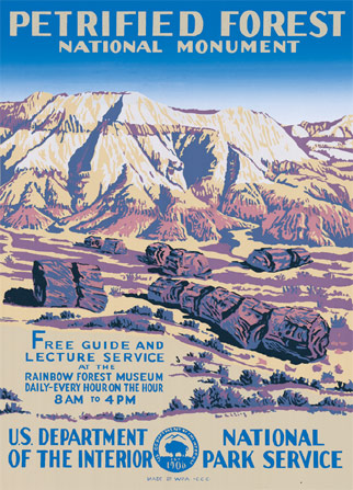 Pertified Forest National PArk Poster