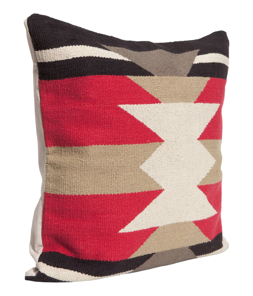 Red and Black Navajo Pillow Cover