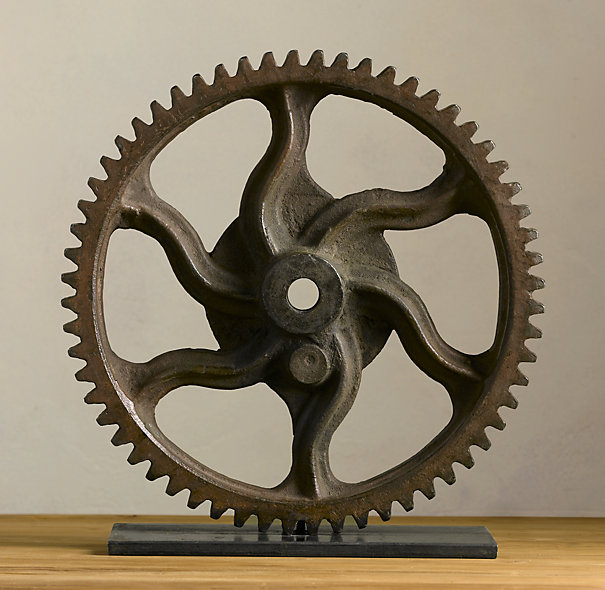 Restoration Hardware Gear Wheel