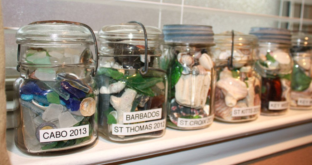 Seaside Memory Jars in the Bedroom