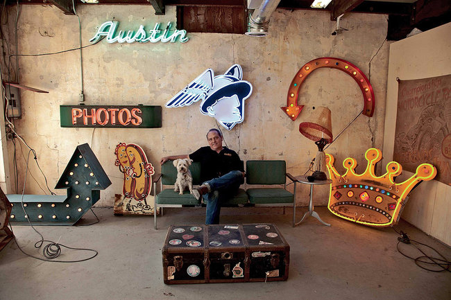 Neon Artist Todd Sanders Inside his Workshop for Roadhouse Relics