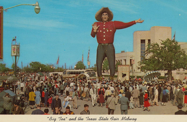 Vintage Big Tex Postcard - State Fair of Texas