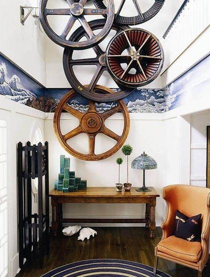 vintage gears as wall art by thom felicia