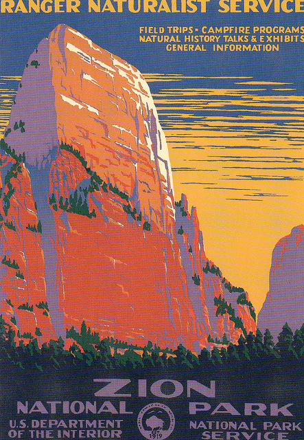 Zion National Park Poster 1938