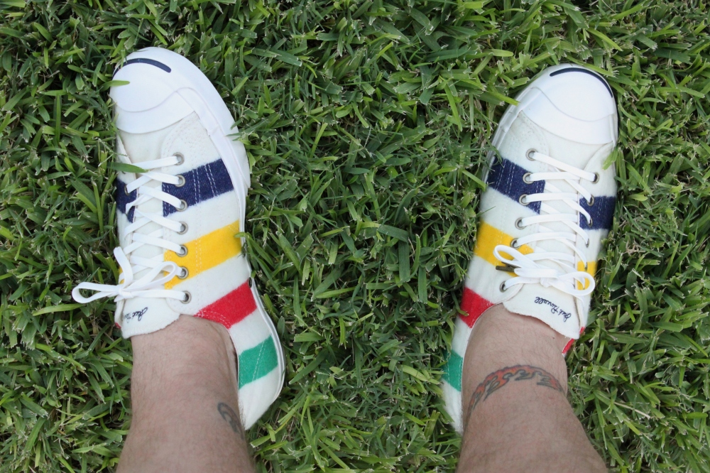Hudson Bay Point Blanket and Jack Purcell