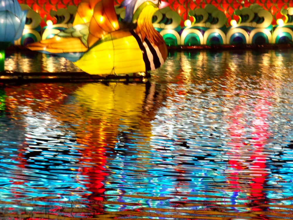 More Chinese LAnters Reflected in the Water
