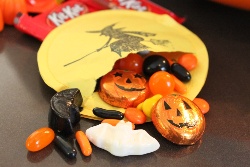 Paper Witch Treats Filled with Candy