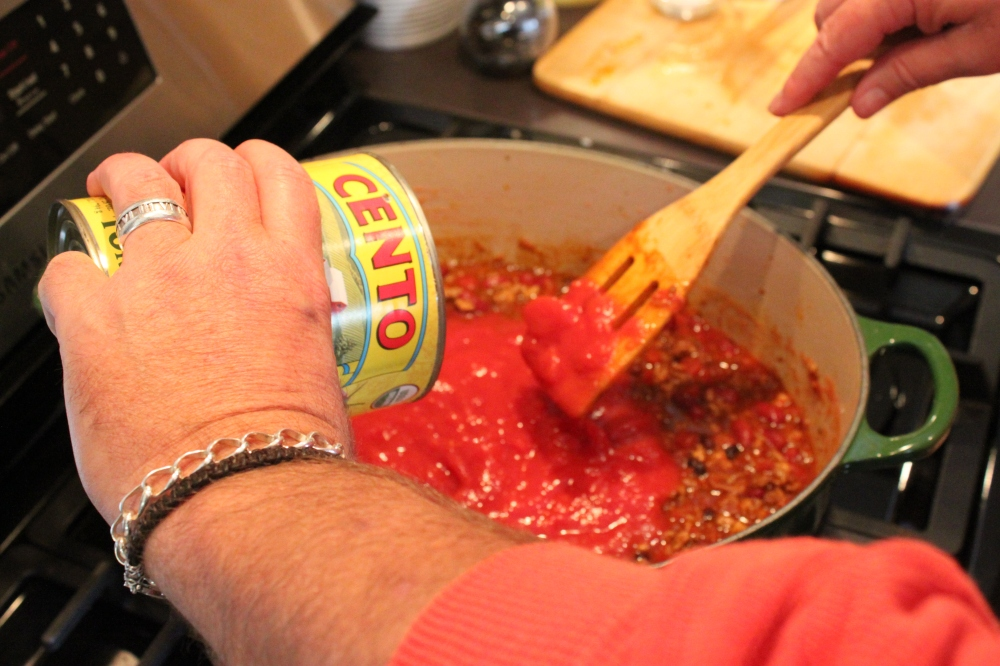 The Canned Tomatoes are the Last Ingredient to Add