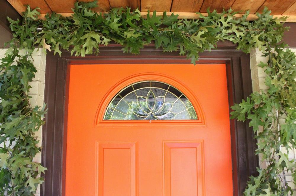 The Oak Branches Surrounding the Front Door