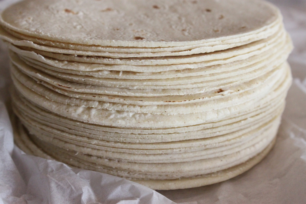 White Corn Tortillas from the Mexican Grocery Store