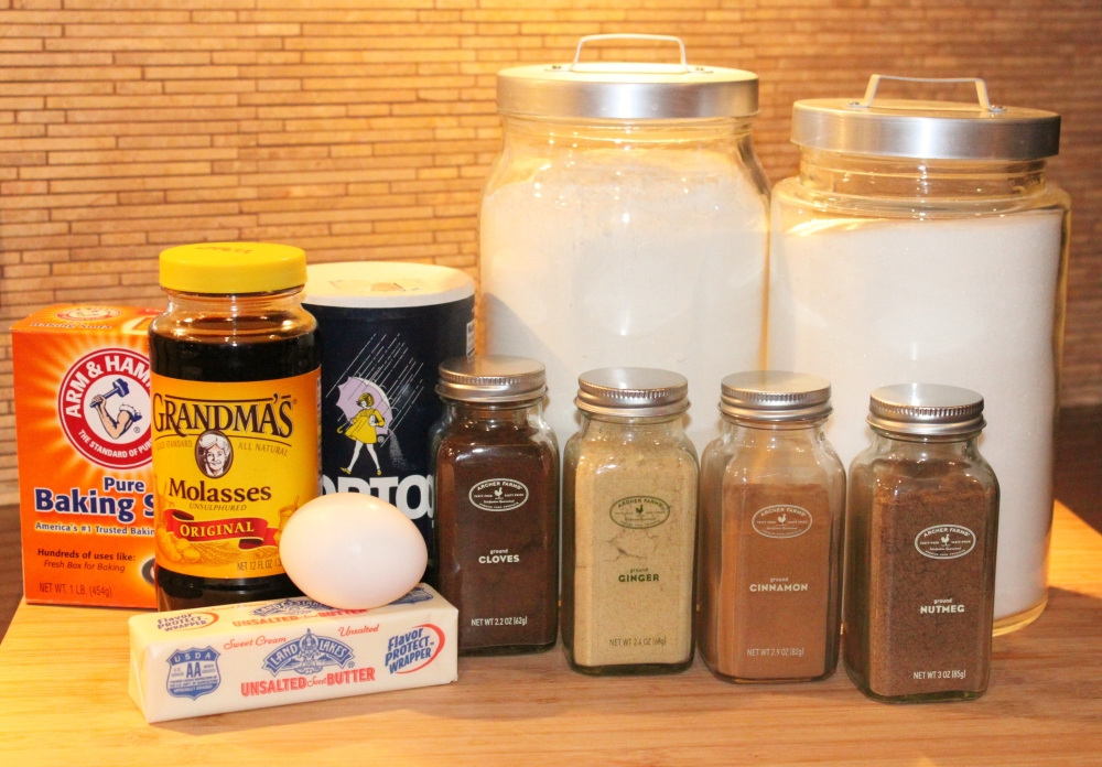 All the ingredients for Gingerbread Cookies