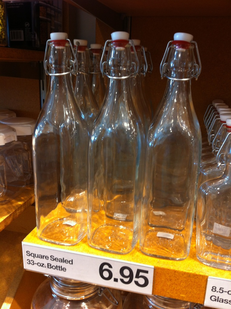 Crate & Barrel Bottles for Flavored Vodka