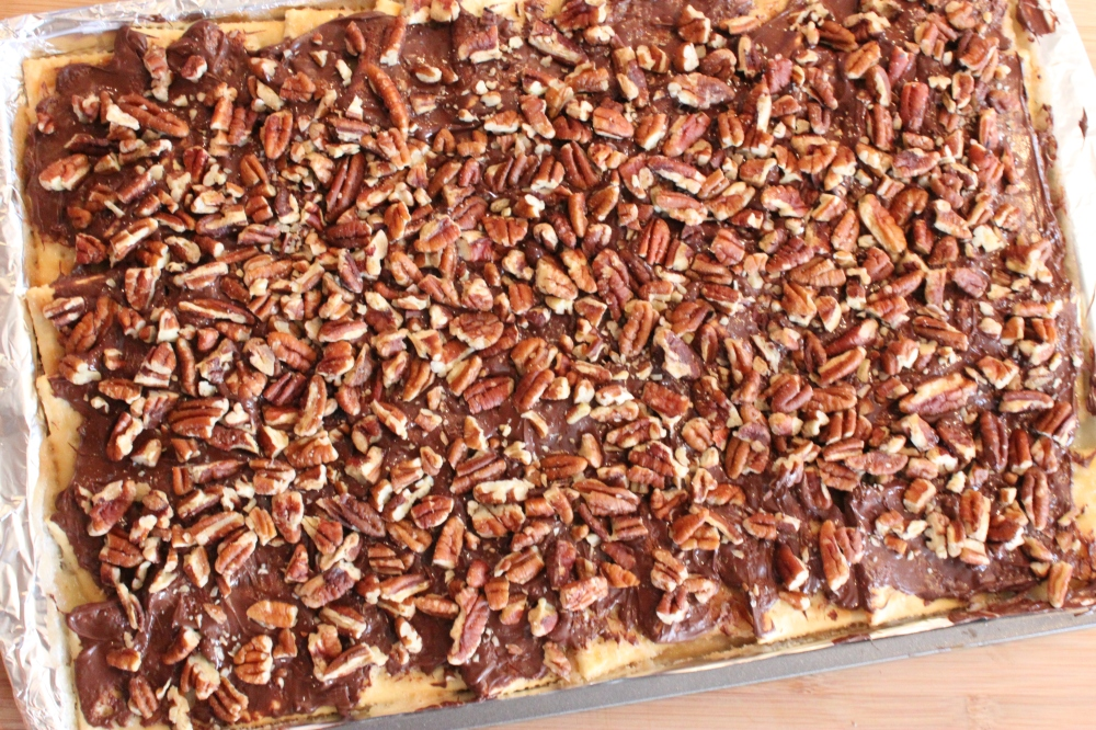 Add a Layer of Roughly Chopped Pecans