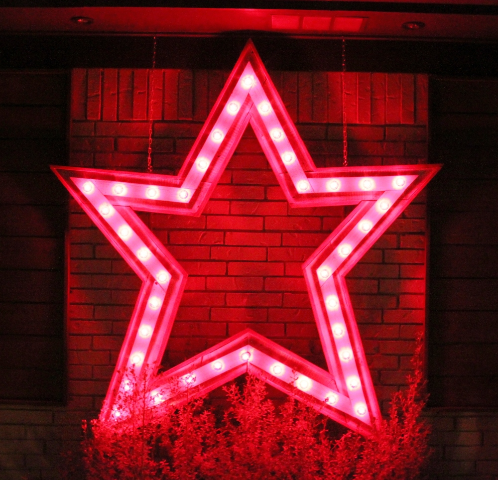 Big Red Barnwood Star Lighting the Way