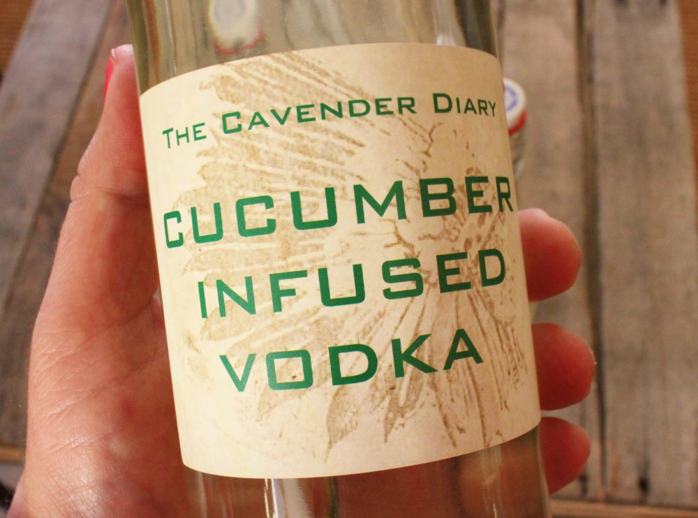 Cucumber Infused Vodka Label