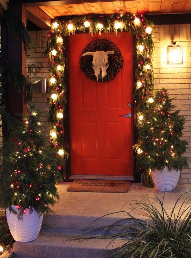 Front Door of the Cavender House December 2013