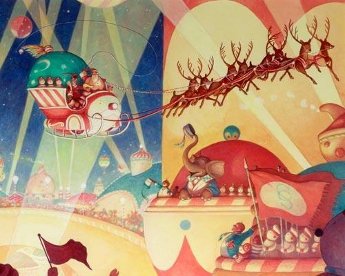Illustration from the Book Santa Calls