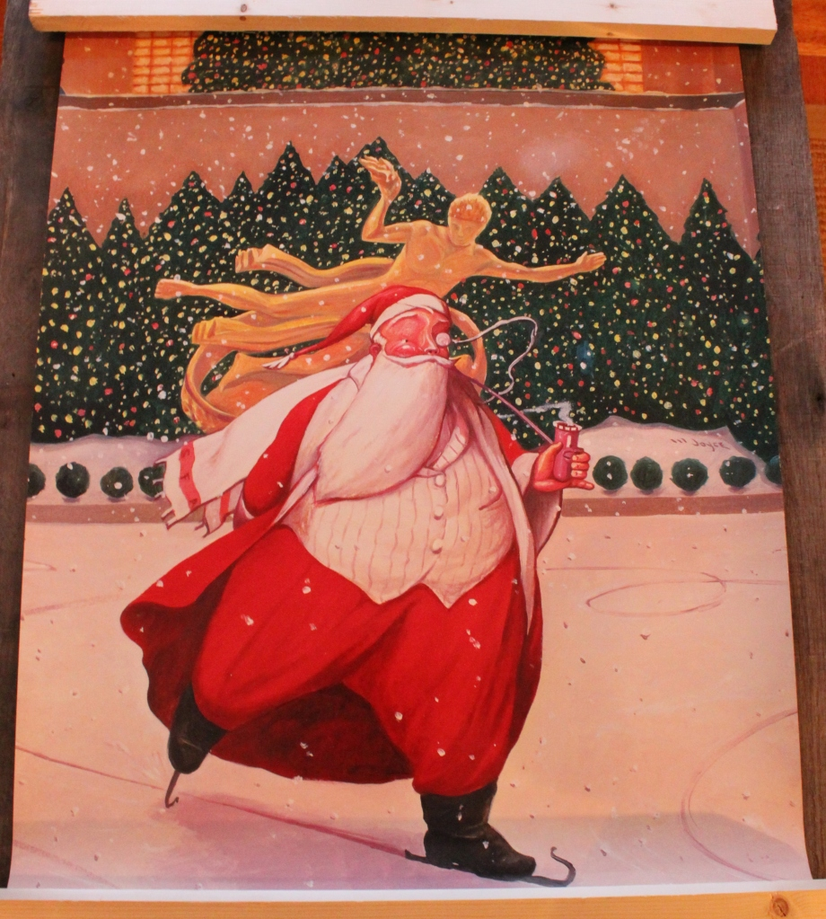 Santa Skating in Rockefeller Center
