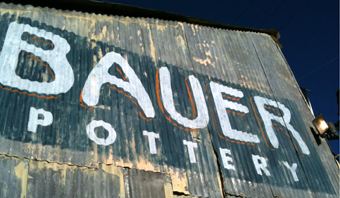 Bauer Pottery Sign