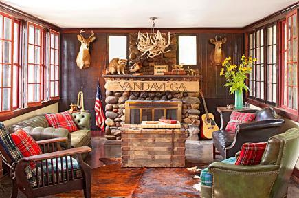Camp Wandawega Living Room