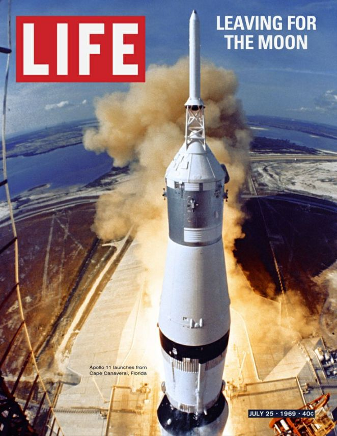 Life Magazine Cover Race to the Moon