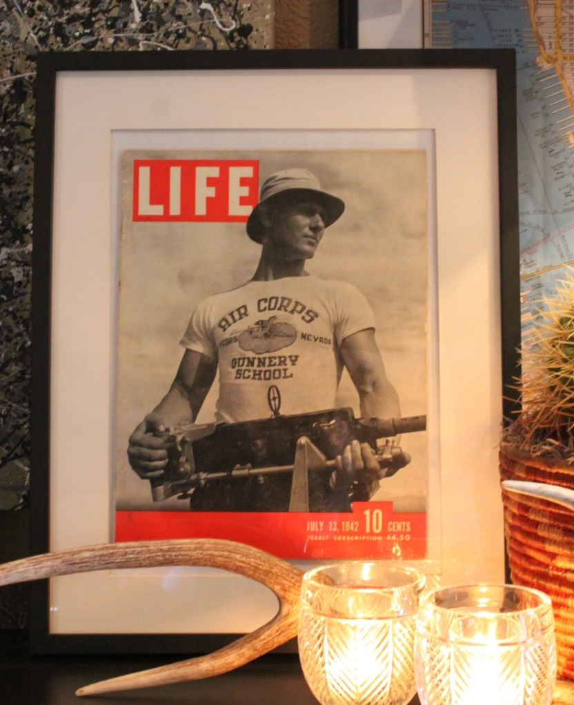 Life Magazine from 1942 in Ikea Frame