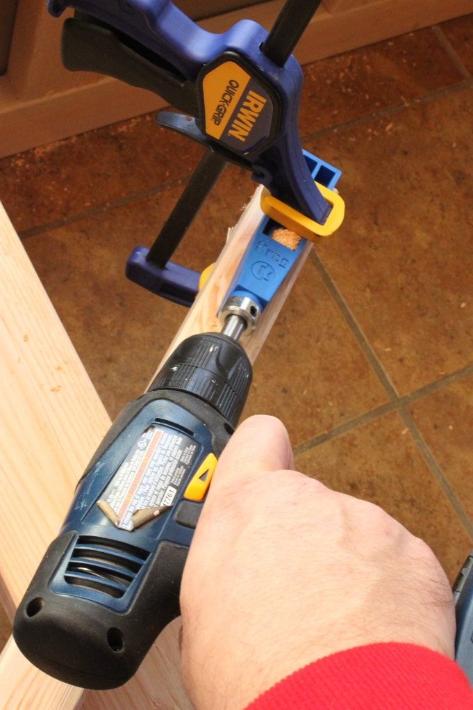 Use an Angled Drill Guide to make Pilot Holes to Connect