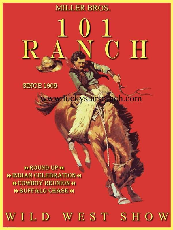101 Ranch Wild West Show Poster @ Lucky Stars Ranch
