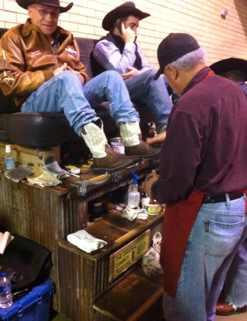 Boot Shine at the Ft Worth Stock Show