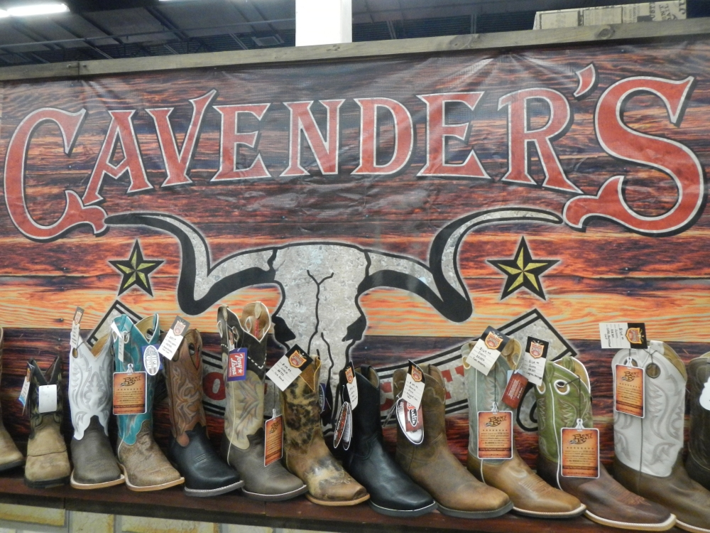 Cavender's Boot at the Ft Worth Stock Show