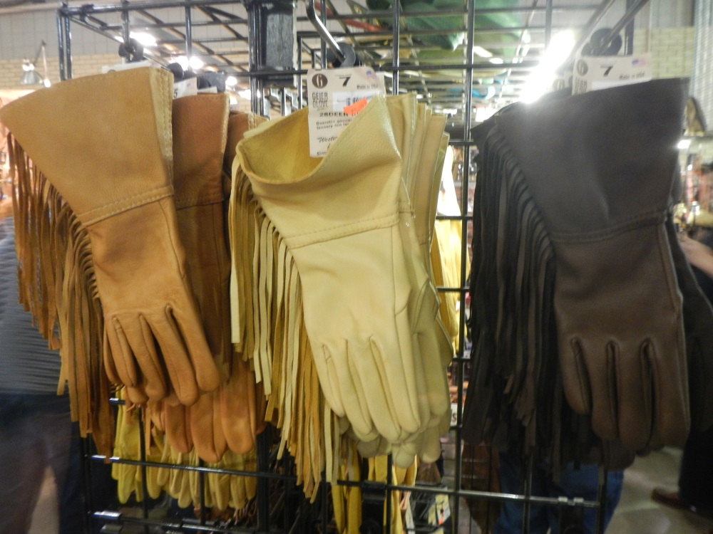 Fringed Gloves at the Ft Worth Stock Show