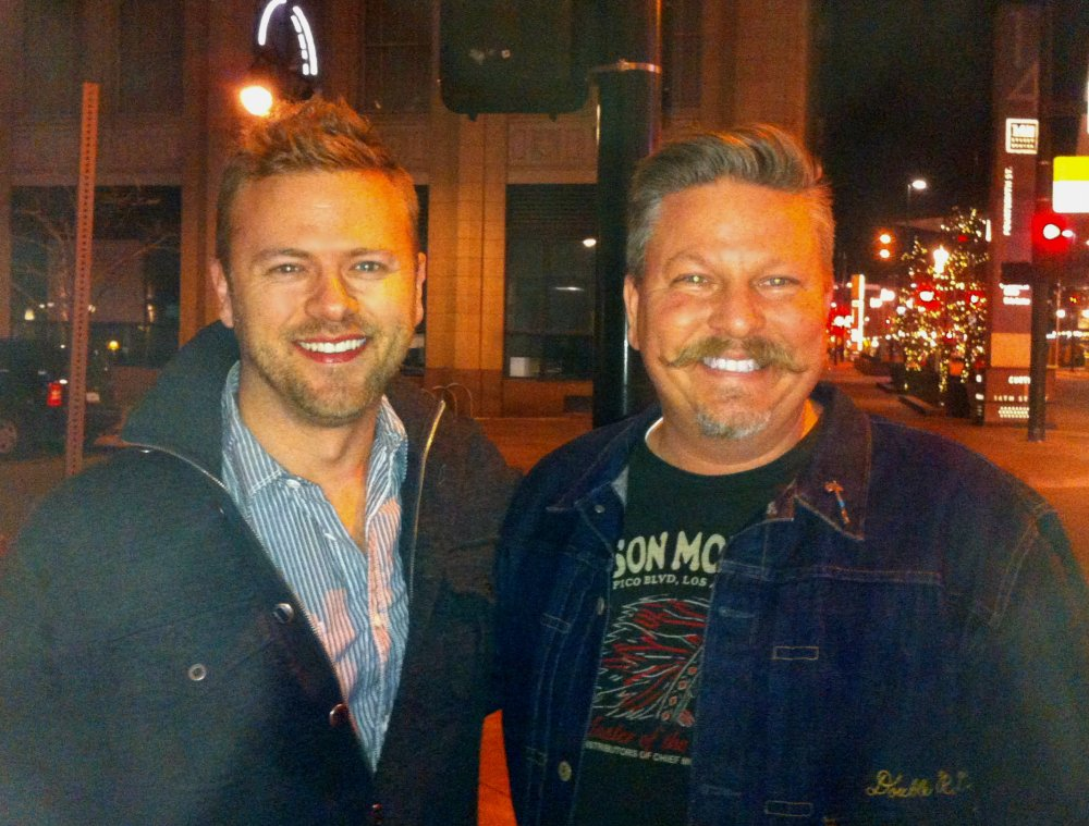 James with Matt Muenster on a Denver Street Corner