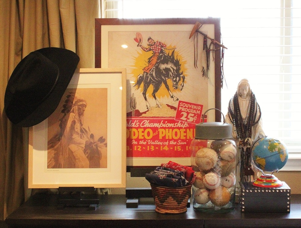 Lucky Stars Ranch - Rodeo Phoenix Poster in the Cavender Master Bedroom