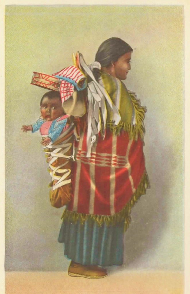 Navajo Mother and Papoose Fred Harvey Post Card