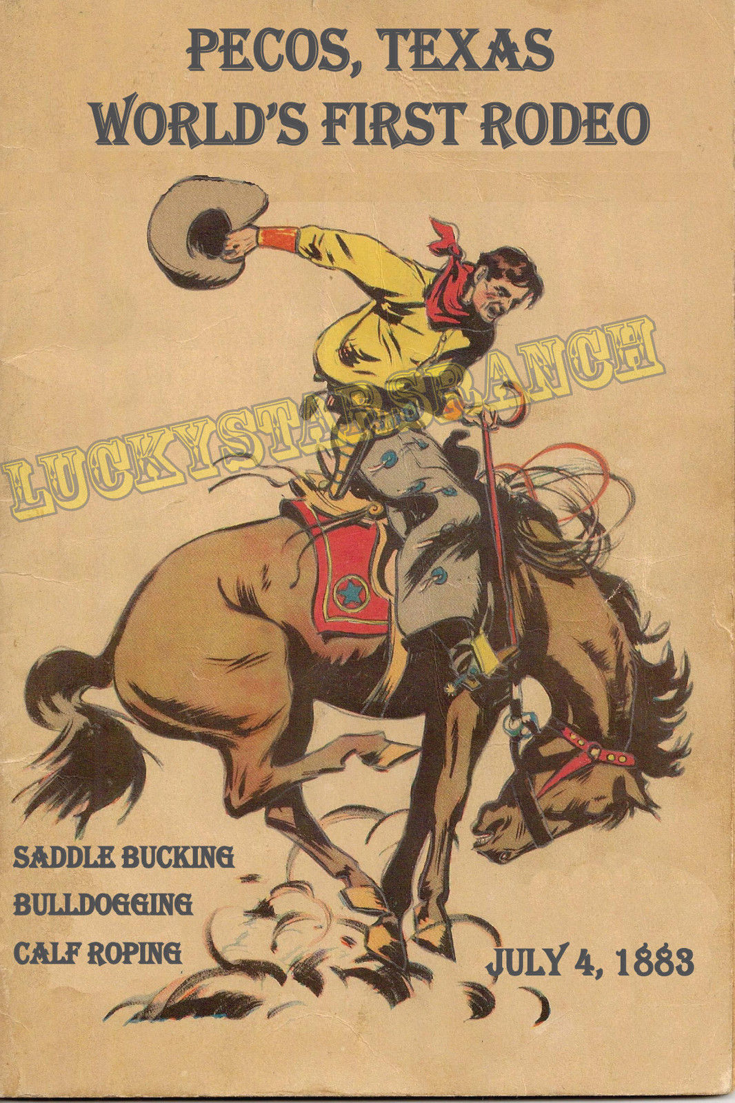 Vintage Rodeo Prints The Cavender Diary
