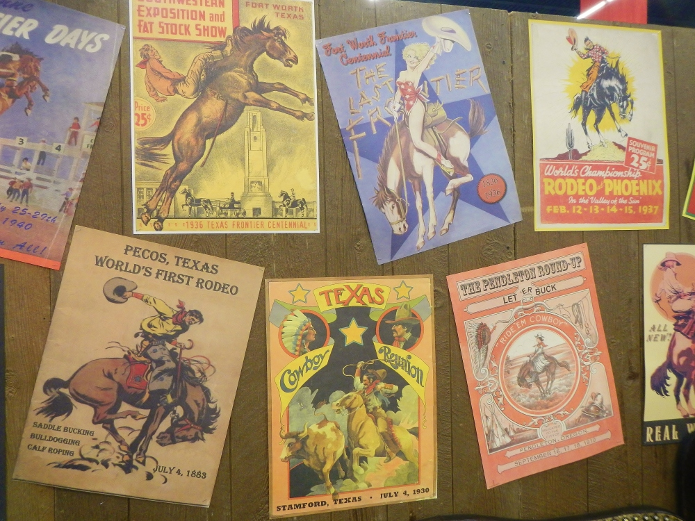 Reproduction Rodeo Posters at the Ft Worth Stock Show and Rodeo