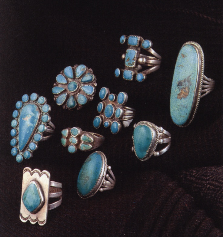 Rings from the Millicent Rogers Collection in Taos New mexico