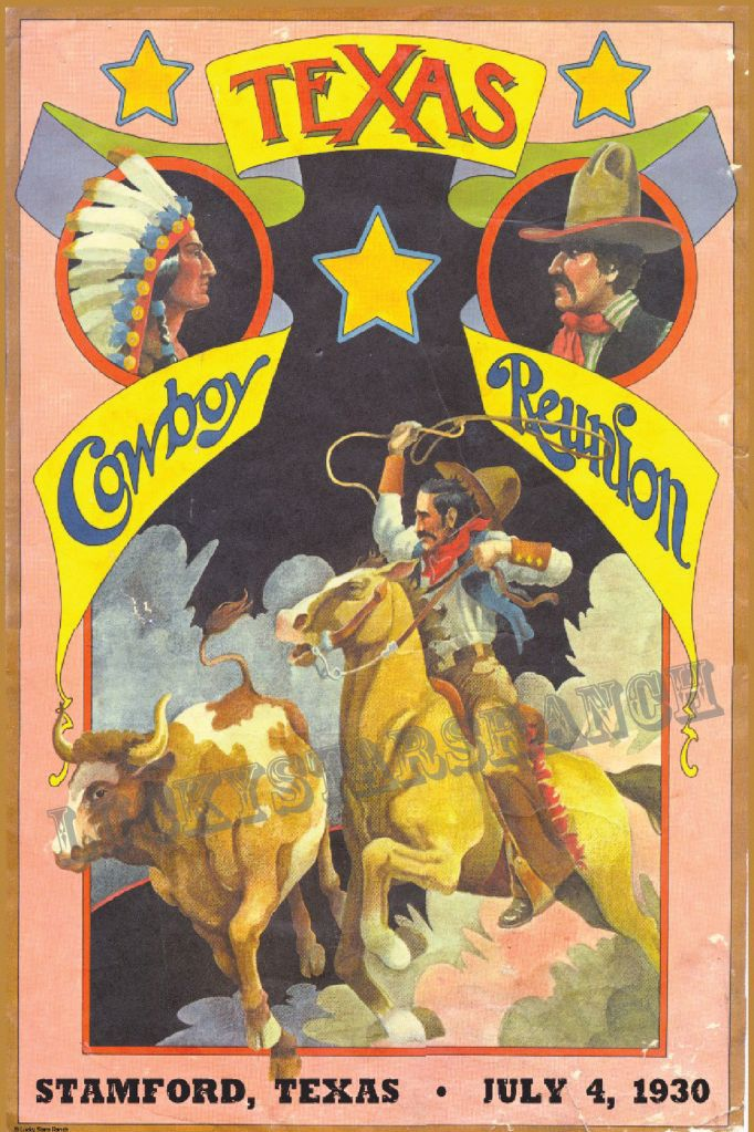 Texas Cowboy Reunion Poster @ Lucky Stars Ranch