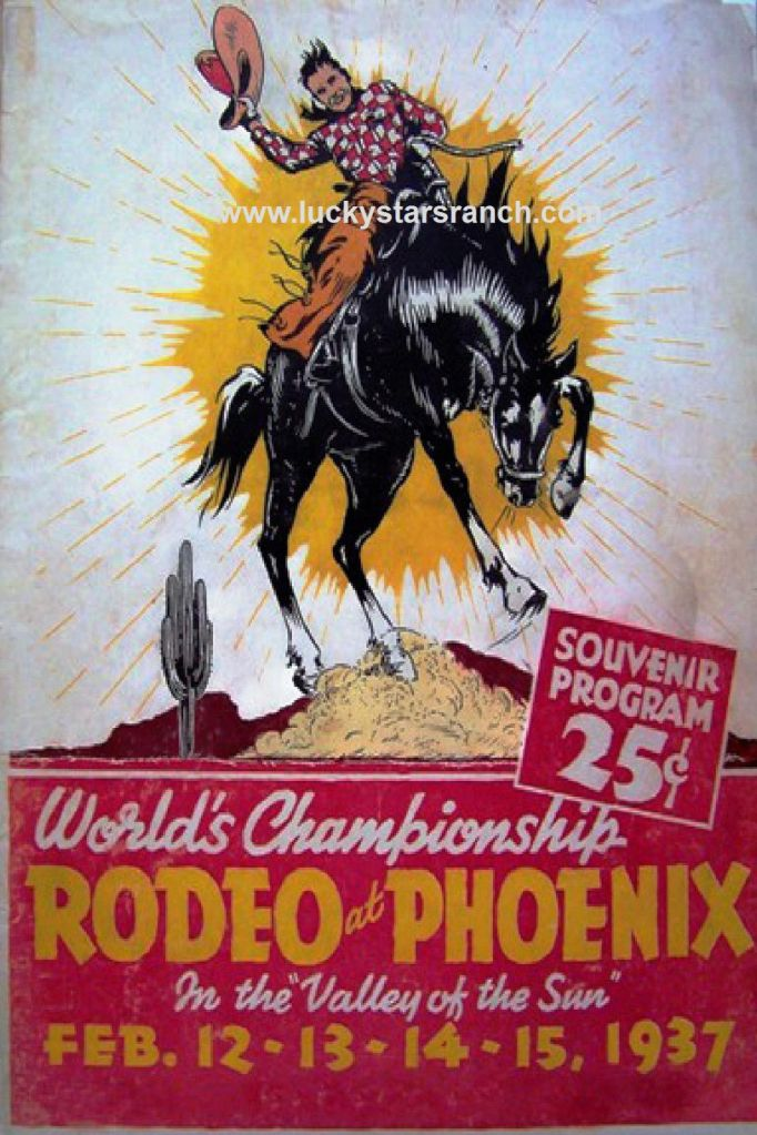 World Championship Rodeo at Phoenix Poster @ Lucky Stars Ranch