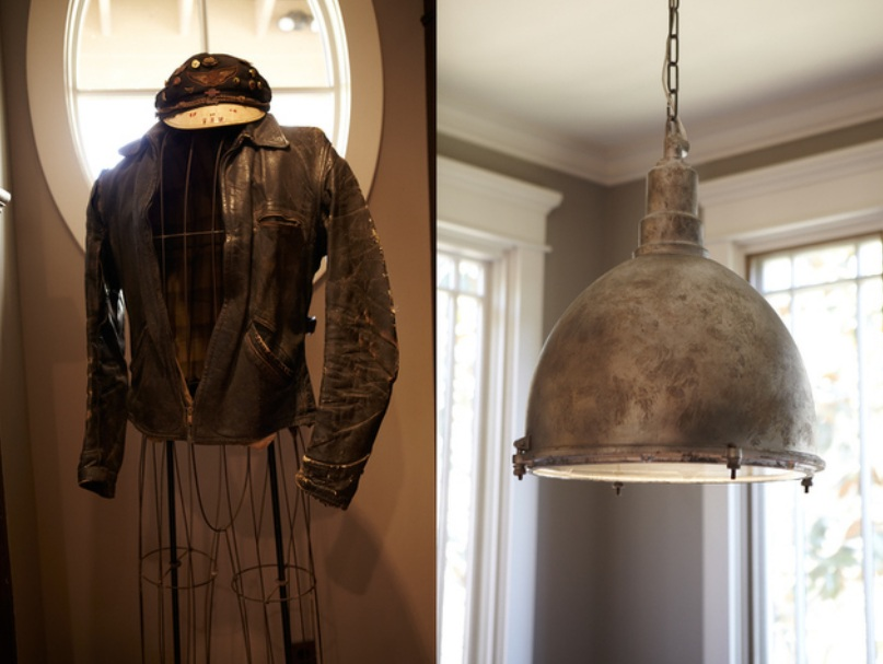 A Vintage Leather Jacket and Upcycled Pendant in Mike Wolfe's Home from Nashville Insider Magazine