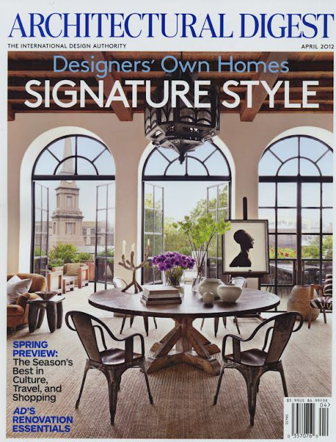 Architectural Digest April 2012