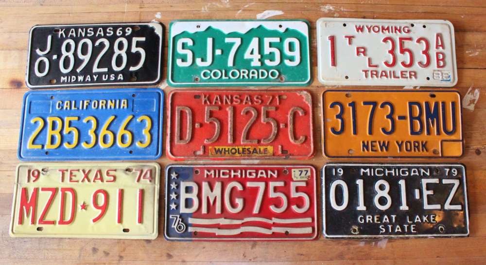 Assorted Old License Plates I've Collected Over the Years