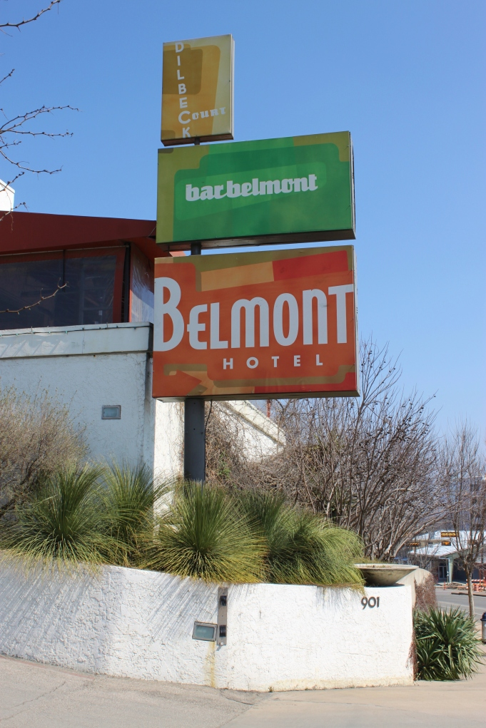 Beautiful Sign for the Belmont Hotel in Oak Cliff