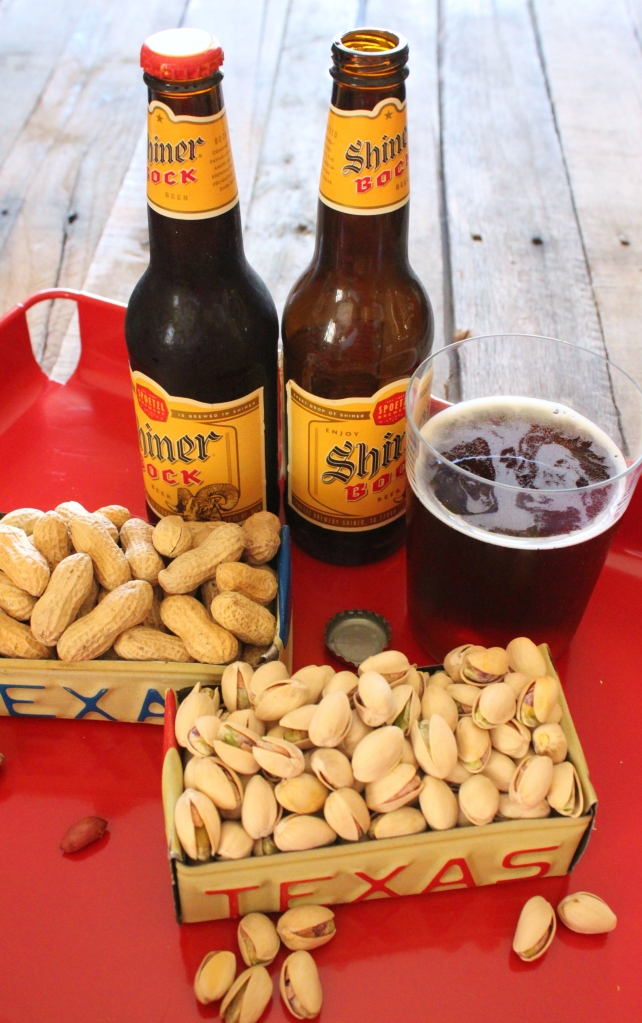 Beer and Nuts Out of Upcycled License Plates