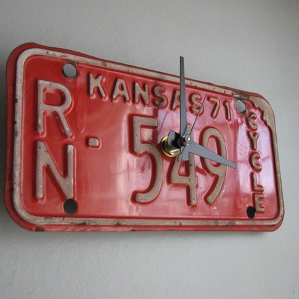 Kansas License PLate Clock
