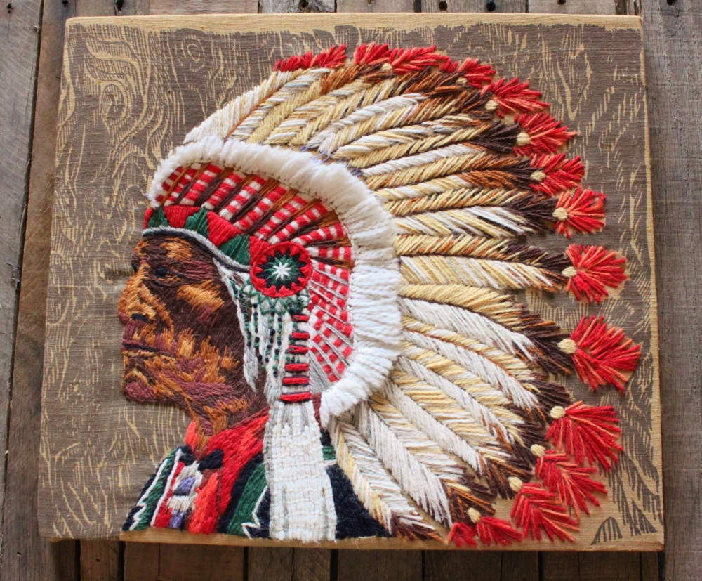 Crewel Work Indian Chief