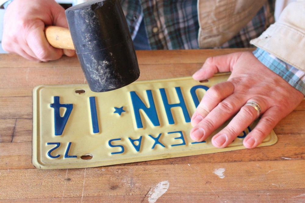 Flatten the License Plate with a Rubber Mallet
