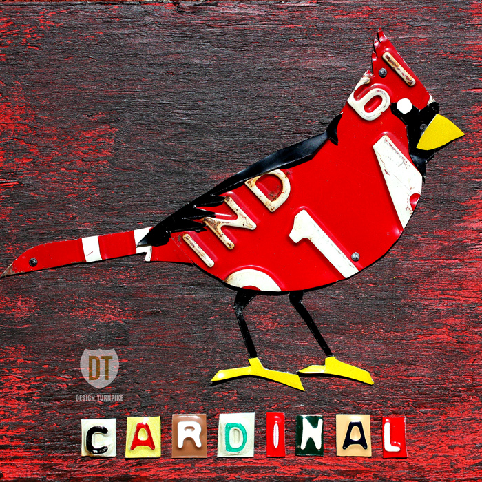 Indiana Cardinal Art bt Design Turnpike