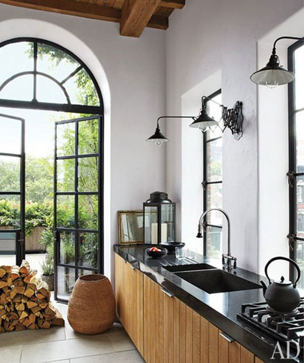 Kitchen In Goldfarb/Paredes East Village Penthouse