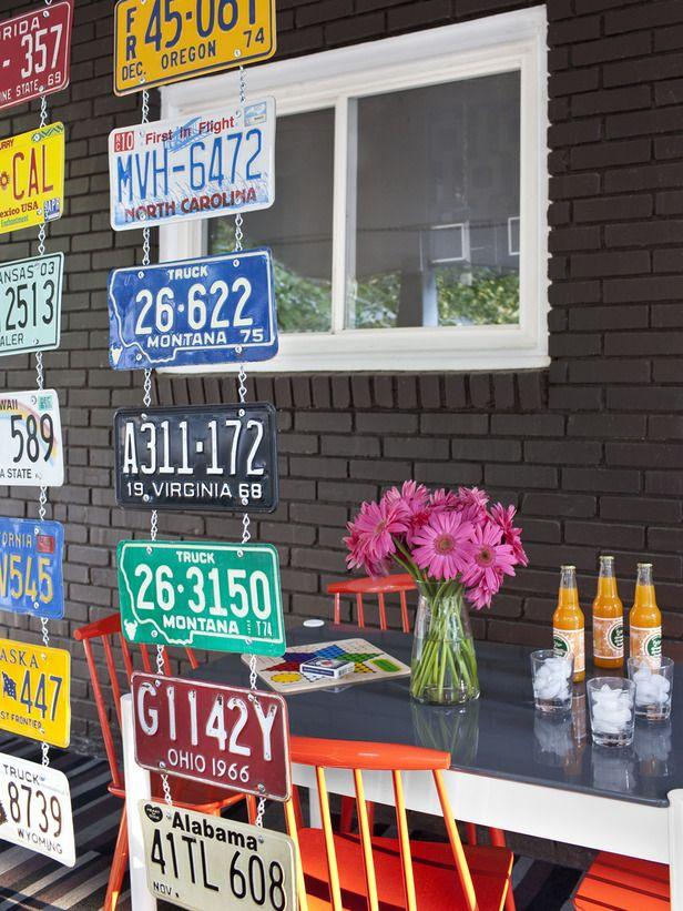 License Plate Hanging Room Divider